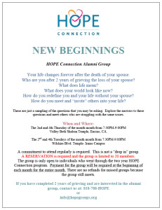 Los Angeles Grief Support Group flyer