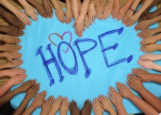 Hands united in hope