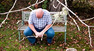 A man grieving