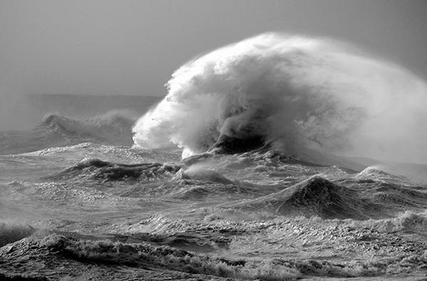 An angry sea
